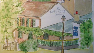 1 Montmartre 9.5 in X 6.6 in  2002